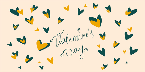Happy Valentine's Day typographic poster. Vector illustration - Vector.