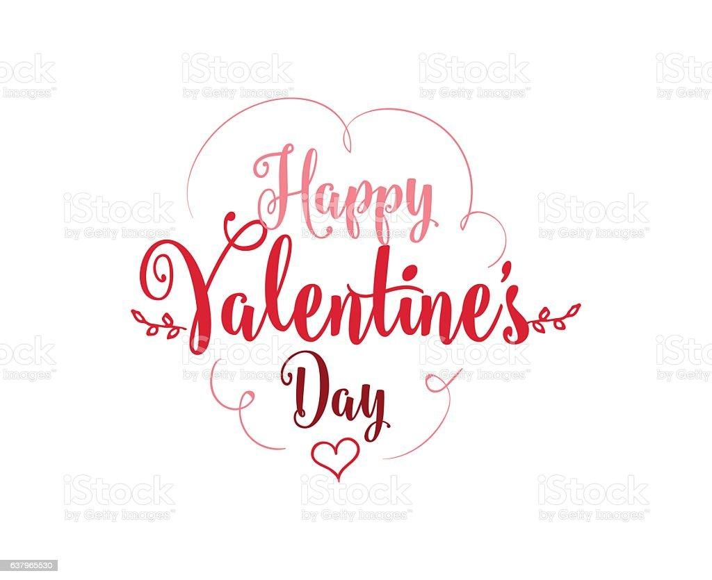Happy Valentines day typography. Vector design. vector art illustration