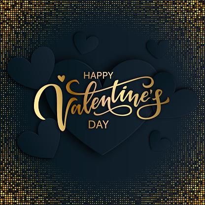 Happy Valentines day vector card design