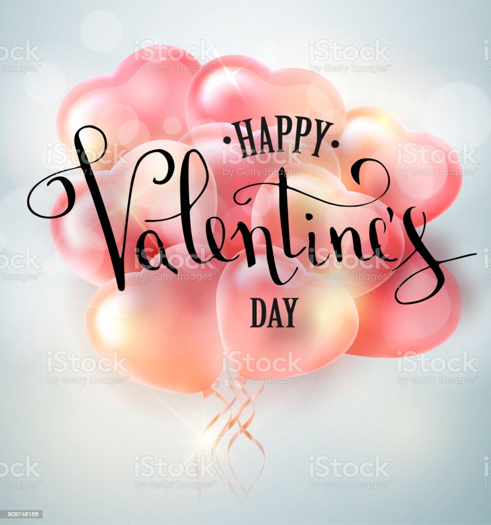 Ilustración de Feliz Día De San Valentín Vector Mano Diseño De ...
