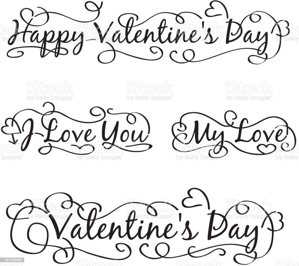 Happy valentine's day royalty-free stock vector art