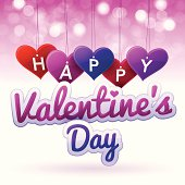 Happy Valentine's Day tags and text. EPS 10 file. Transparency used on highlight elements.