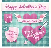 Detailed Happy Valentine's Day elements. EPS 10 file. Transparency used on highlight elements.