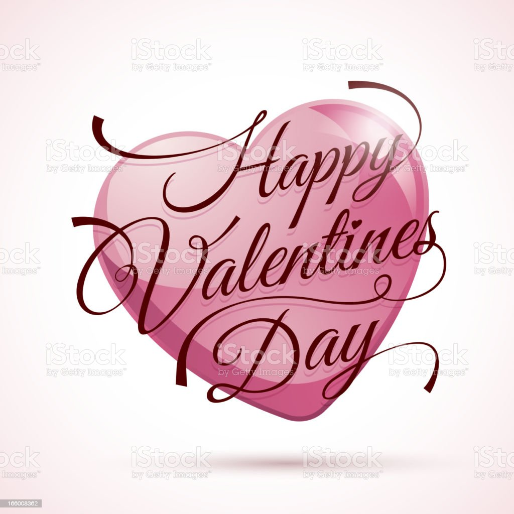 Happy Valentines Day royalty-free happy valentines day stock vector art & more images of calligraphy