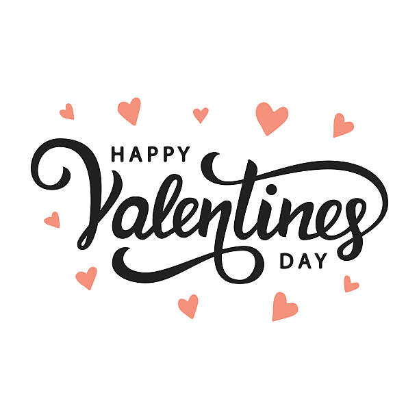 happy valentines day - valentines day stock illustrations, clip art, cartoons, & icons