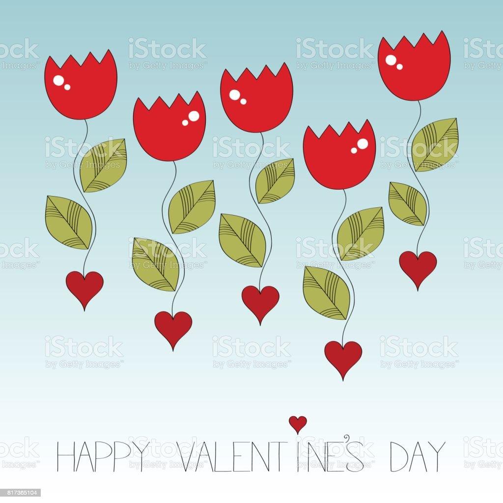 Happy valentine's day vector illustration vector art illustration