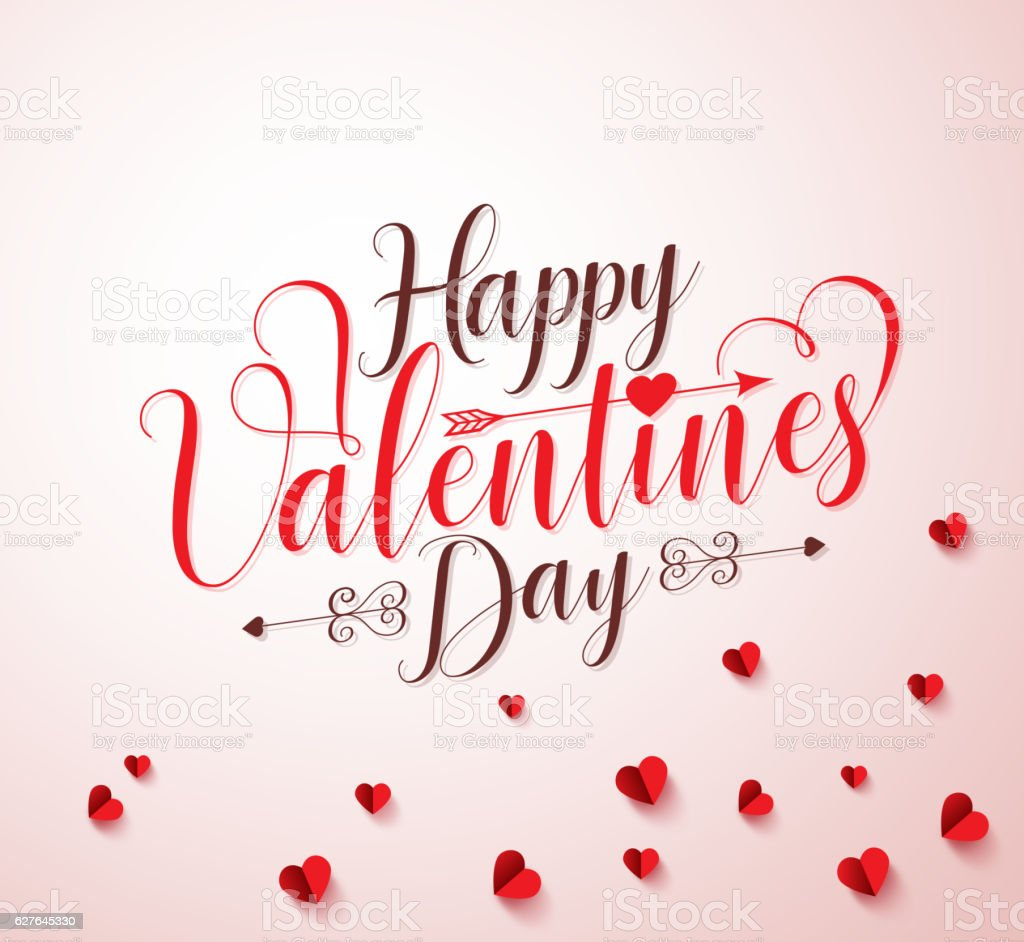 Happy valentines day vector typography or calligraphy vector art illustration
