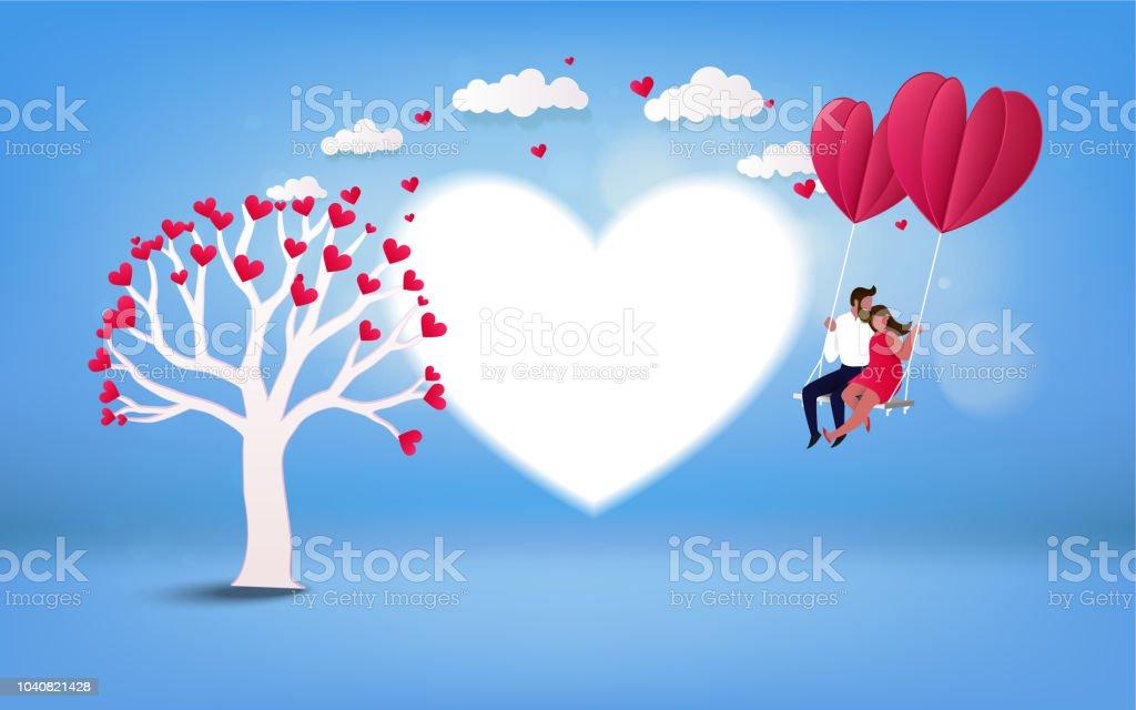 Happy Valentinstag Wallpaper Stock Vektor Art Und Mehr Bilder Von