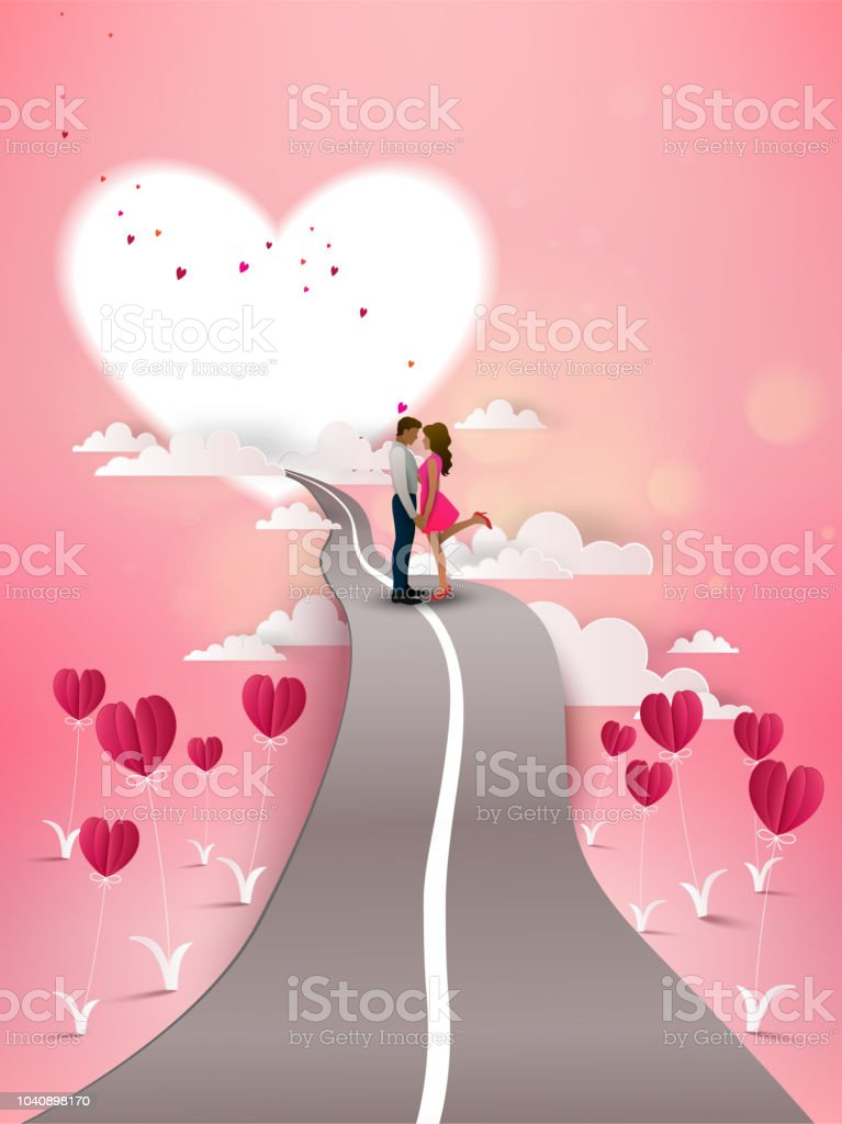 Happy Valentines Day Wallpaper Stock Illustration Download Image