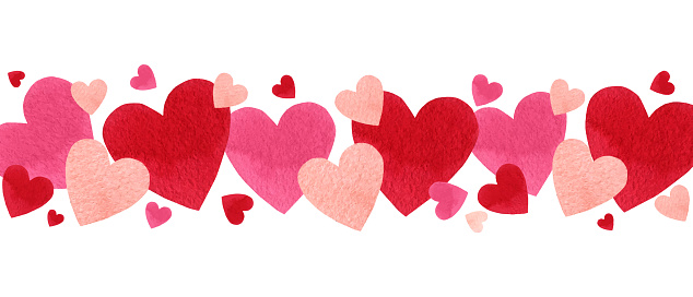 Happy Valentine's day watercolor vector illustration. clipart