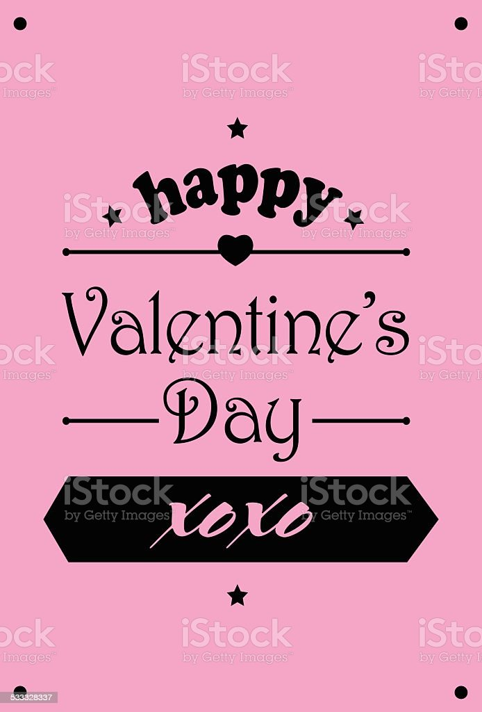 Happy Valentines Day Xoxo Stock Vector Art More Images Of Arrow