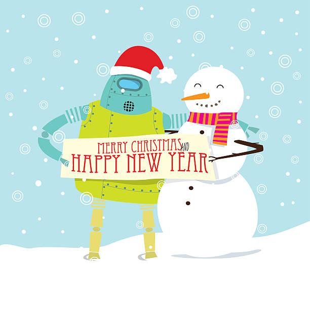 Happy Vector Cartoon Christmas card Design. vector art illustration