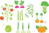Happy veggies illustration