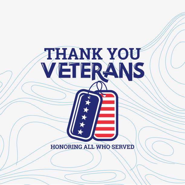 с днем ветеранов, американским традиционным патриотическим праздником. спасибо ветеранам - veterans day stock illustrations