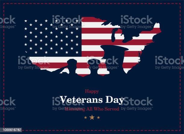 Happy veterans day greeting card with usa flag map and soldier on vector id1055616782?b=1&k=6&m=1055616782&s=612x612&h=neaiuy9 iwwhcrh8tjlaaz cjym7x9jzitwwroy2jlu=