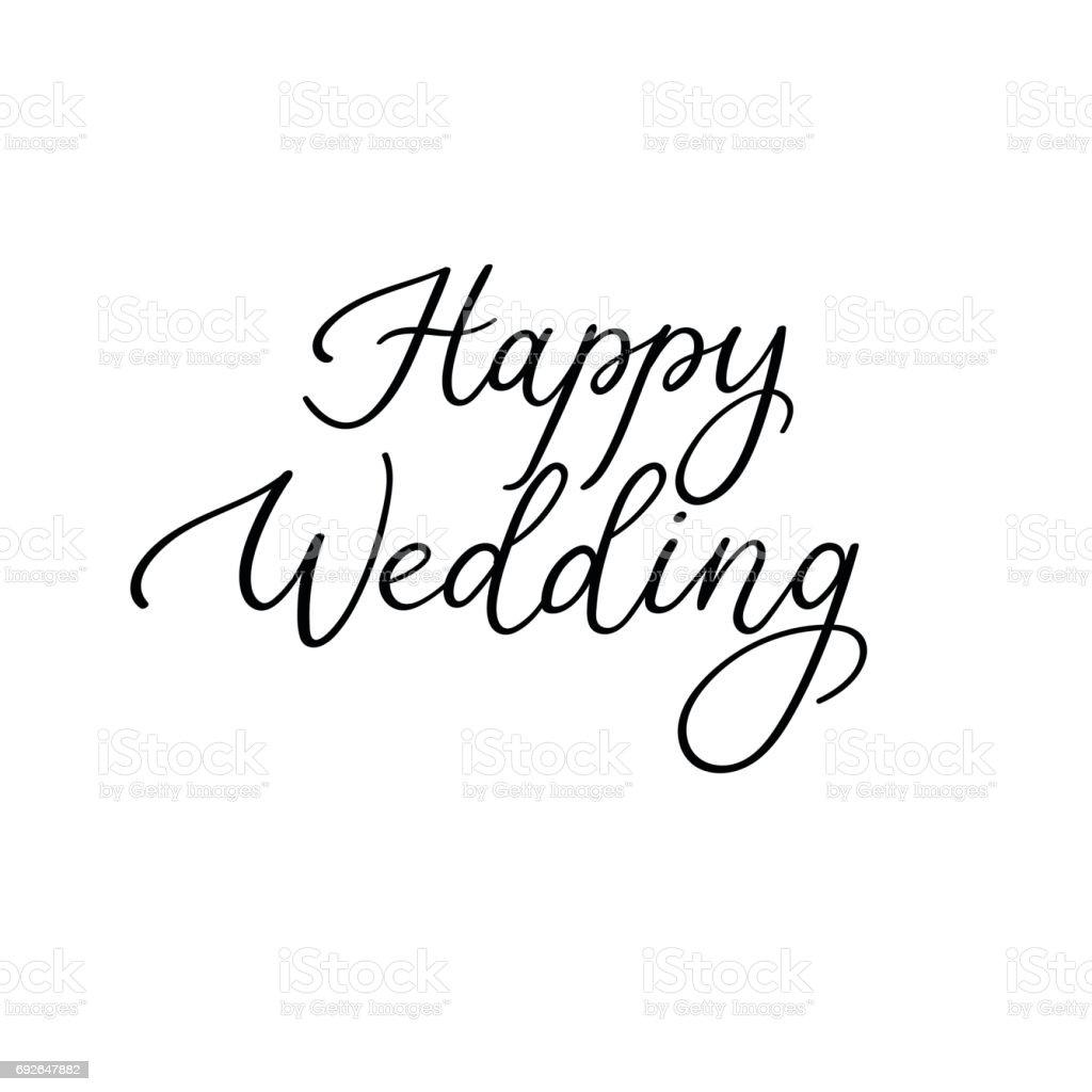 Happy Wedding Calligraphy Handwritten Inscription For