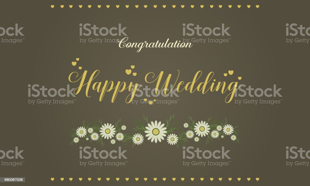 Happy wedding graphic card style vector illustration royalty-free happy wedding graphic card style vector illustration stock vector art & more images of backgrounds