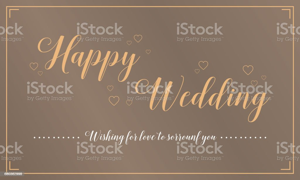 Happy wedding greeting card style royalty-free happy wedding greeting card style stock vector art & more images of backgrounds