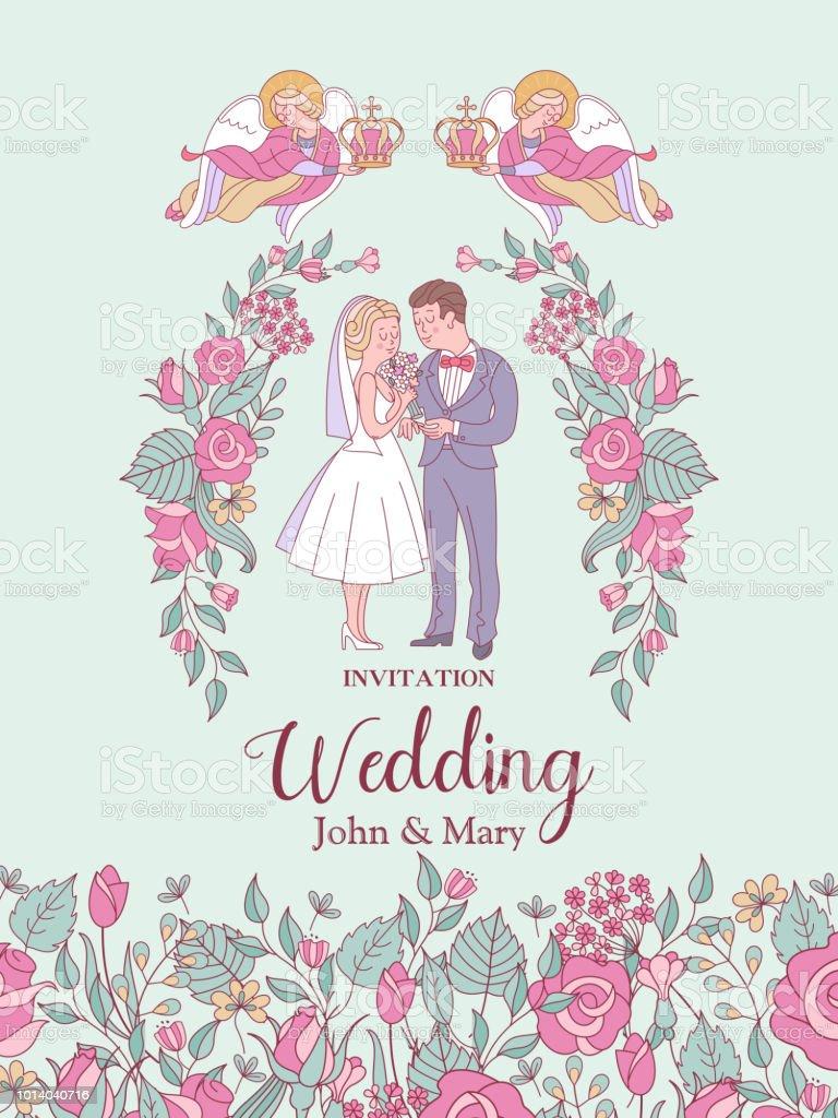 Happy weddings wedding ceremony wedding in church wedding card wedding ceremony wedding in church wedding card wedding invitation stopboris Images