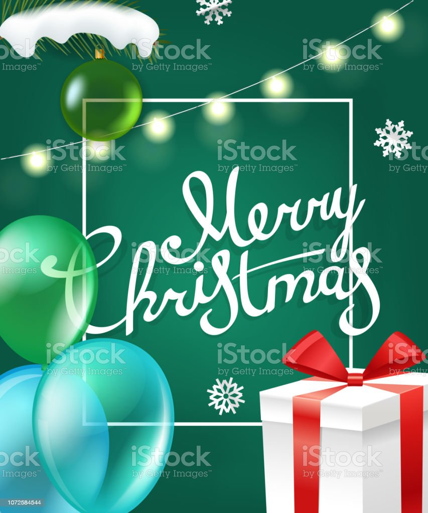Happy winter holidays. Vector greeting card