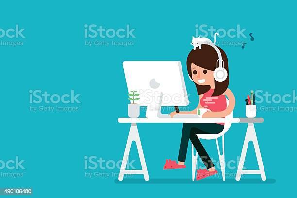 Happy woman working on computer vector id490106480?b=1&k=6&m=490106480&s=612x612&h=pdbgudrntstzeickti amkl5yzszbozf0v2x1gruuxg=