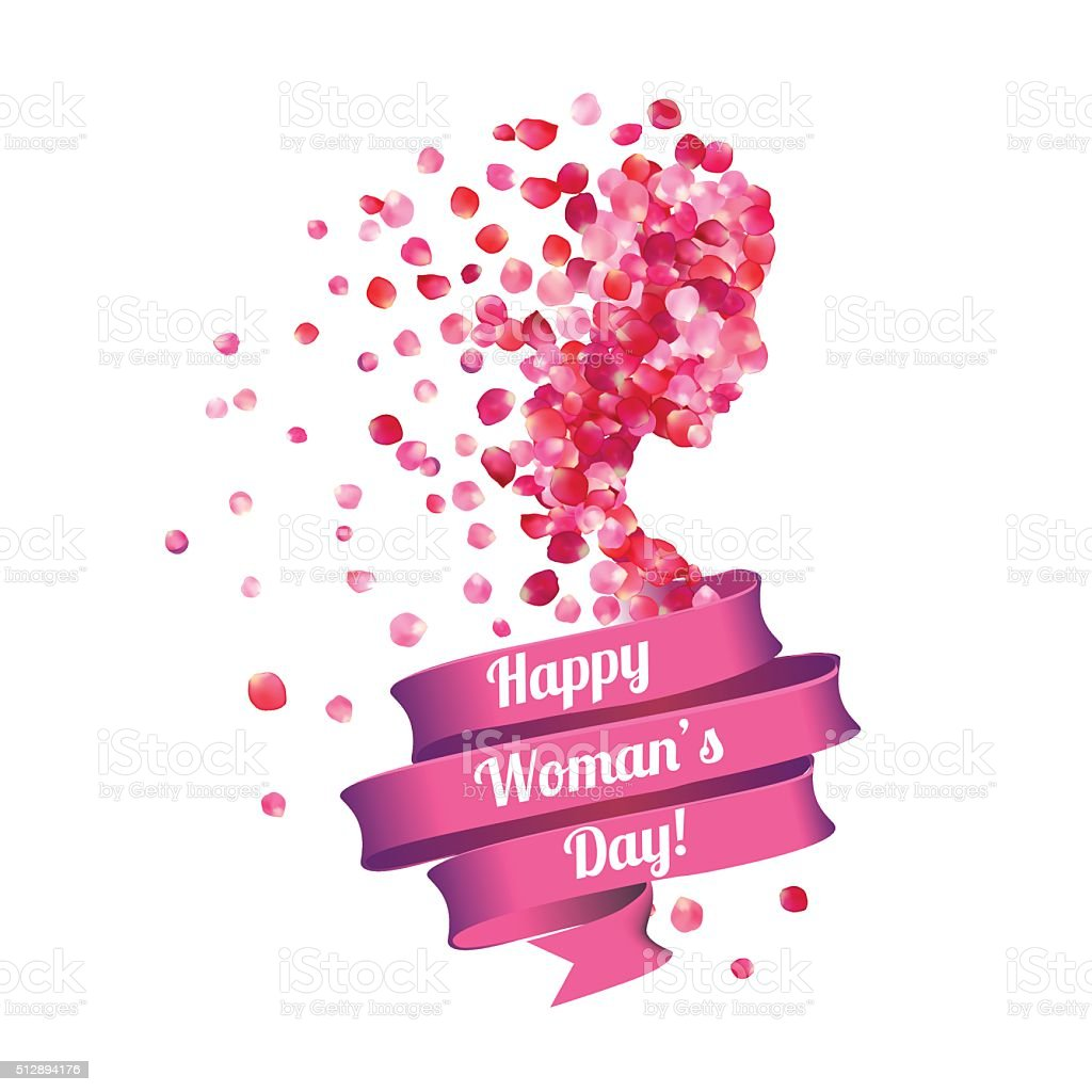 Happy Woman's Day! 8 march. vector art illustration