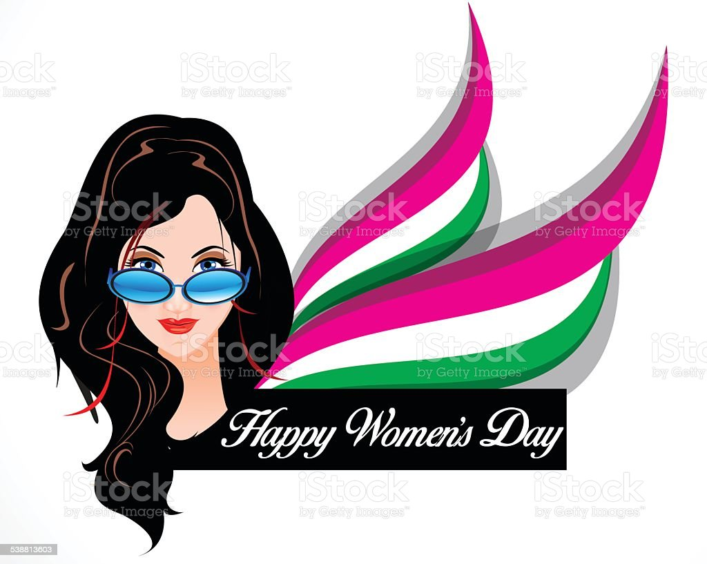 happy woman's day background with vector women cartoon vector art illustration