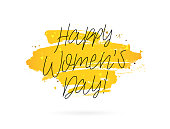 Happy woman's day. March 8. Vector illustration