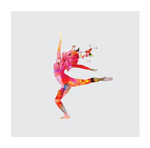 Happy women dancing Happy women dancing performing arts event stock illustrations