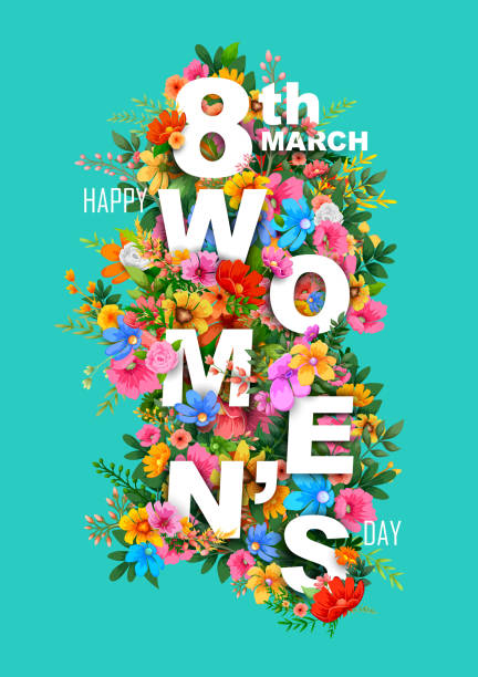happy women day greetings background - international womens day stock illustrations, clip art, cartoons, & icons