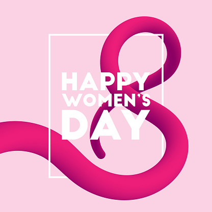 Happy Women's Day blended interlaced fluid background