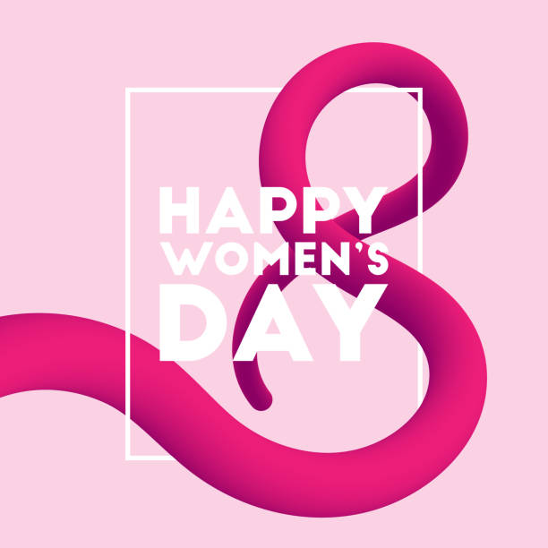 happy women's day blended interlaced fluid background - international womens day stock illustrations