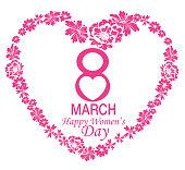 Vector Happy Women's Day Card