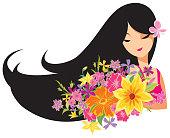 Vector Happy women's day cartoon illustration.