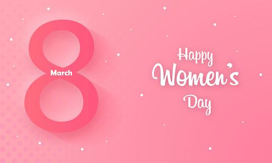 Happy Women's Day Celebration. stock illustration