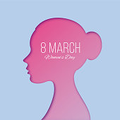 International Women's Day Design - Happy Women's Day celebrations concept - Happy Women's Day greeting card - Illustration