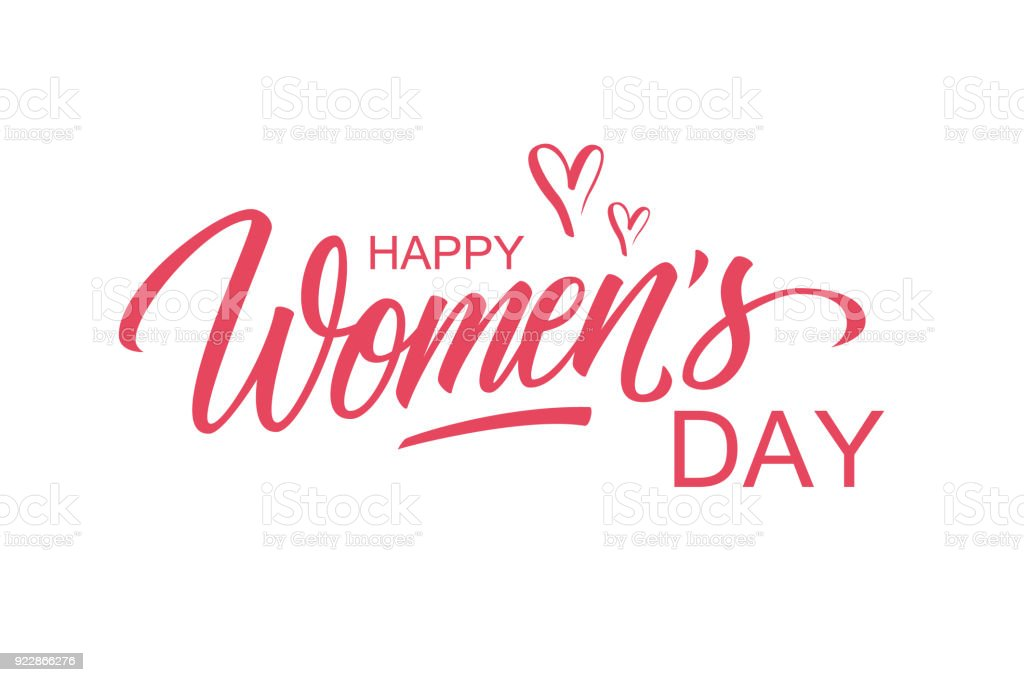 Happy womens day greeting card template with hand lettering text happy womens day greeting card template with hand lettering text design creative typography for holiday m4hsunfo