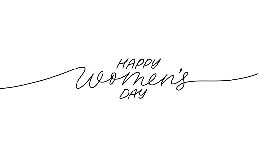 Happy Women's Day greeting card.