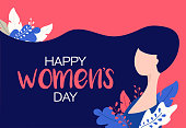 Happy Women's Day illustration with beautiful girl. Happy Women's Day illustration with beautiful girl.