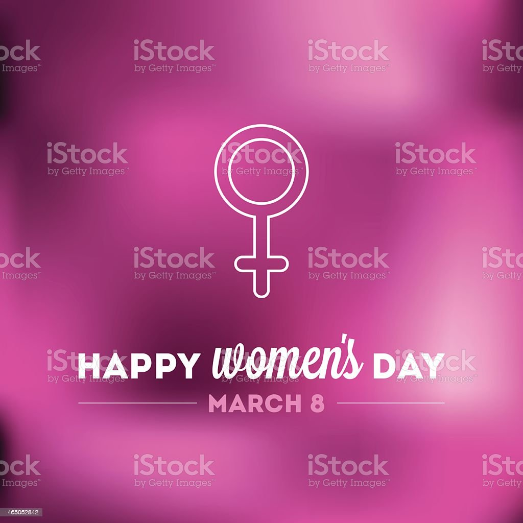 Happy Women's Day. March 8 vector art illustration