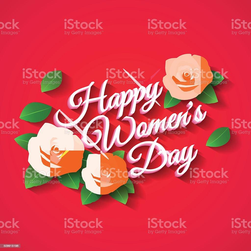 Glücklich Womens Tag Rose Vektor Illustration 509915196 | iStock