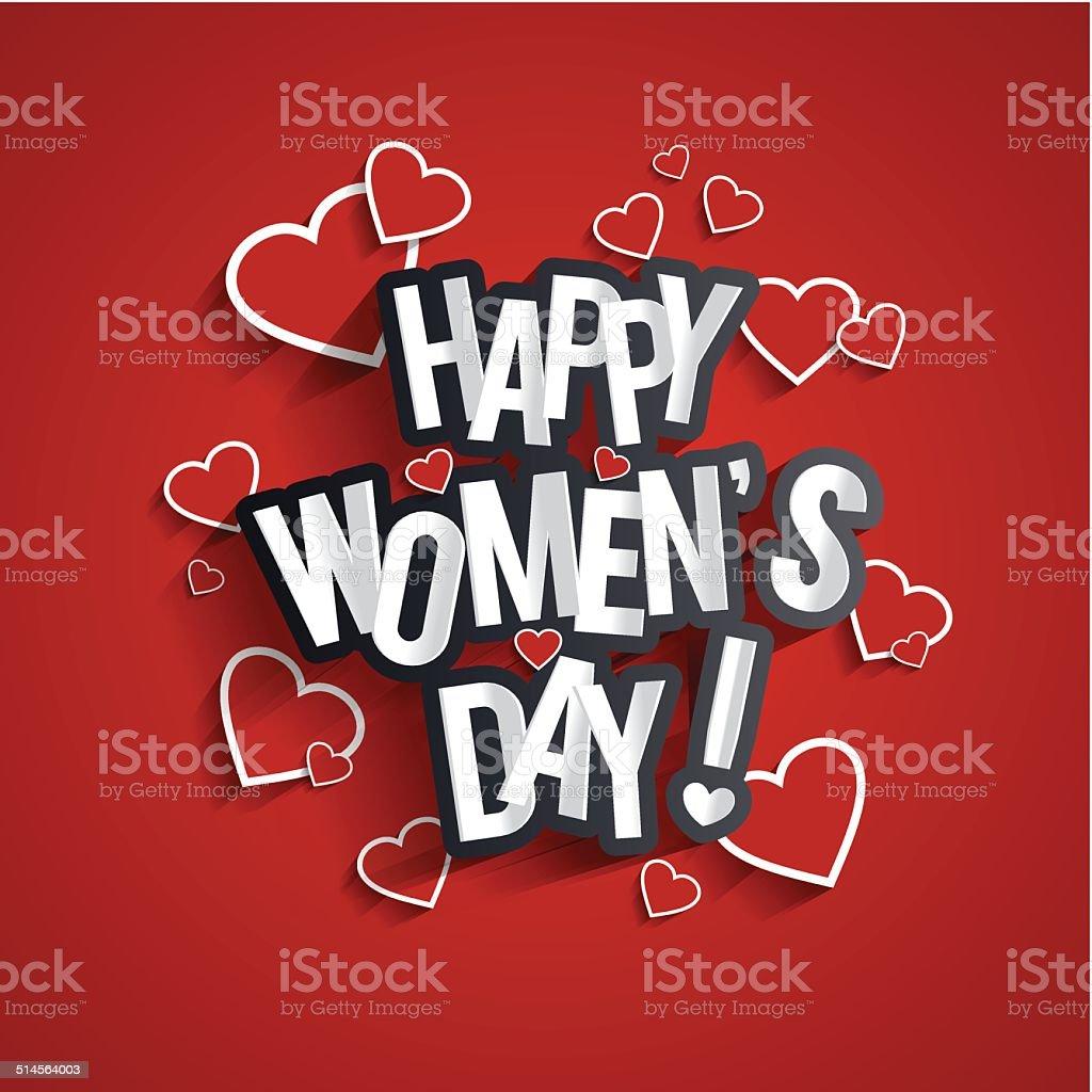 Happy Womens Day vector art illustration