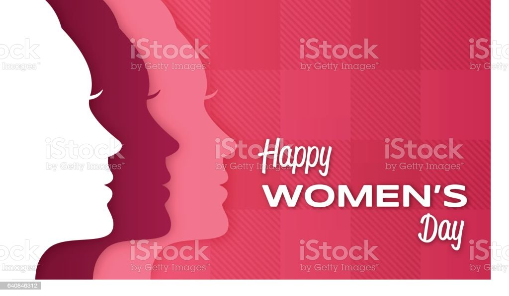 Happy Women's Day vector art illustration