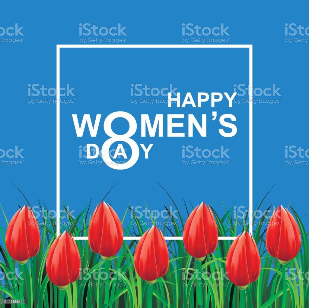 Glückliche Frauen Tag. – Vektorgrafik