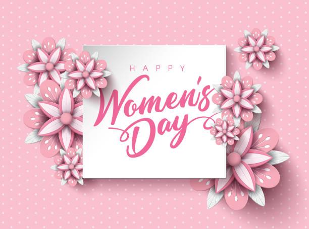 happy women's day - happy holidays stock illustrations