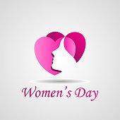 Happy women's day, 8 march celebrations, women's day celebrations, women's logo, female illustration, women's love logo, women's love icon, heart love icon,