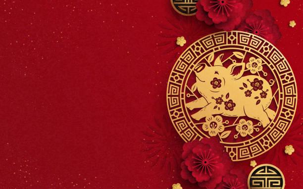illustrations, cliparts, dessins animés et icônes de bonne conception année de the pig - nouvel an chinois