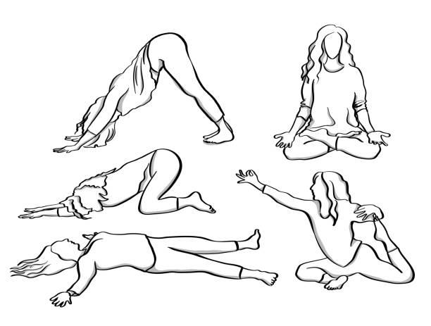 Happy Yoga Master – Vektorgrafik