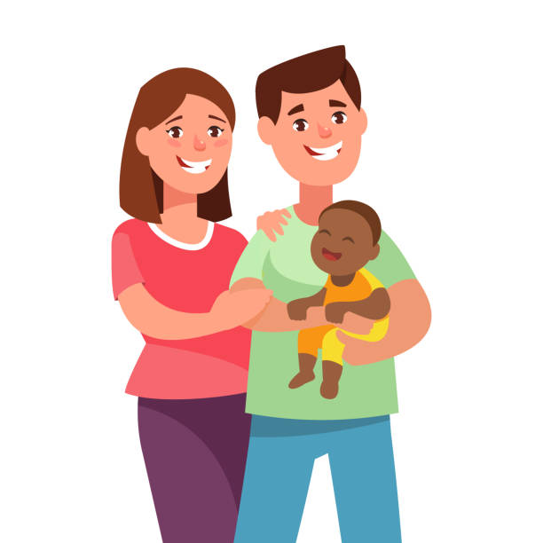 Royalty Free Foster Care Family Clip Art, Vector Images ...