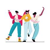 istock happy young three boys avatars characters 1301509766